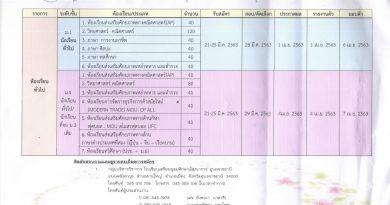 ประกาศรับสมัครนักเรียน ม.1 และ ม.4 เข้าเรียนห้องเรียนทั่วไป ปีการศึกษา 2563